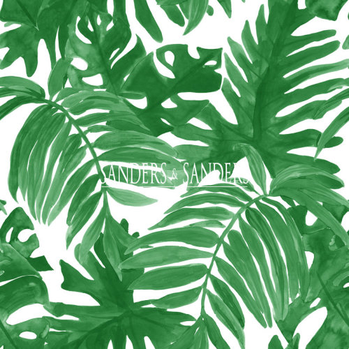 wallpaper palm leaves tropical jungle green - 935266 - from Sanders & Sanders