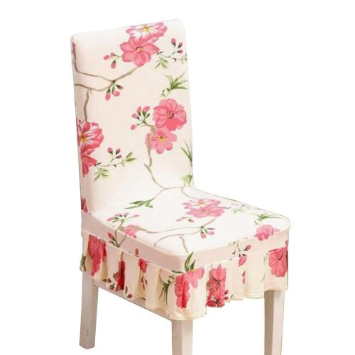 [Flowers-08] Stretch Dining Chair Slipcover Chair Cover Chair Protector