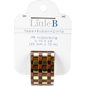 """Little B Decorative Foil Tape .98""""X10.3Yds-Autumn Plaid"""