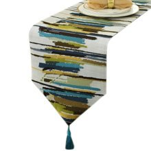 12*79 Inch, Stylish Table Runner Tablecloth Elegant Bed Runner Colorful Green