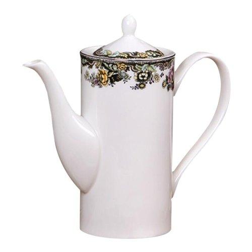 Coffee Tea Milk Ceramic Teapot - Flower Pattern