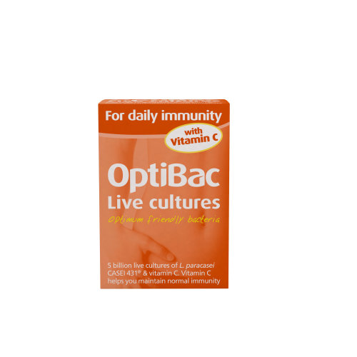OptiBac For Daily Immunity - 5 Billion CFU L. Casei 431 Vegan - 30 Capsules