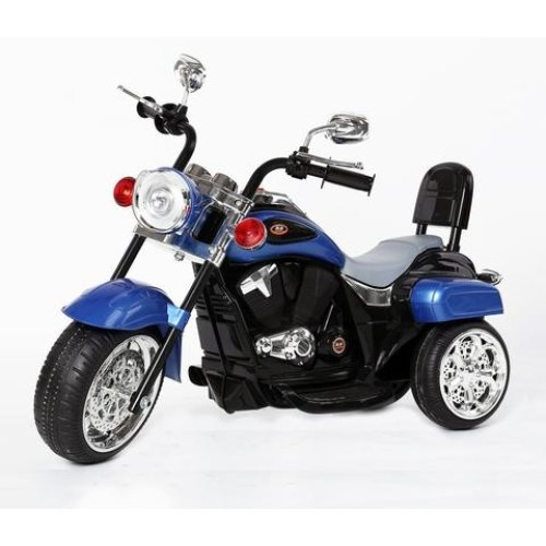 Harley-Davidson Style Kids 3 Wheel Chopper 6V Electric Motor Trike LED lights and Sound Colour Blue Ages 18 Months-4 Years