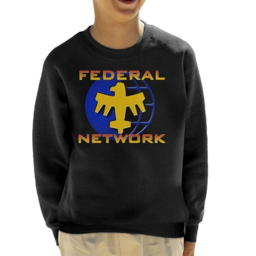 Starship Troopers Federal Network Gold Blue Logo Kid's Sweatshirt