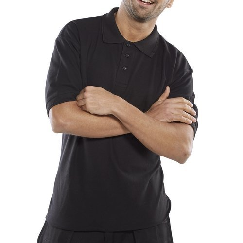 Click CPPKSBL4XL Premium Polo Shirt Black 4XL