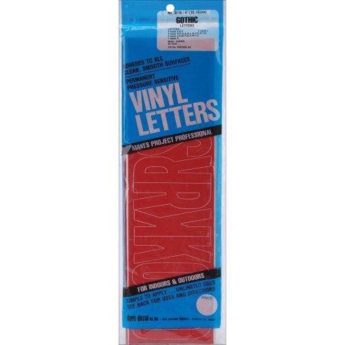 "Permanent Adhesive Vinyl Letters 4"" 95/Pkg-Red"