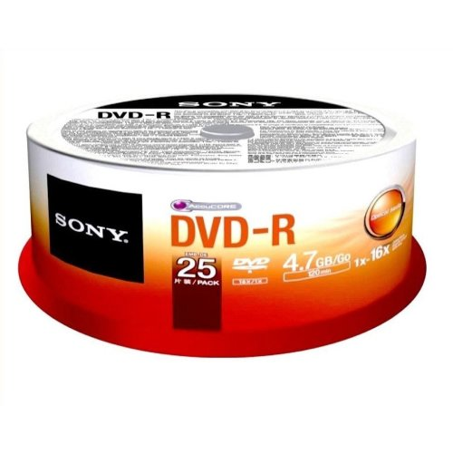Sony DVD Minus (16X Speed) 25 spindle
