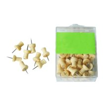 50-Count,Wood Pushpins Tacks for Map, Photos and Calendar Office Supplies