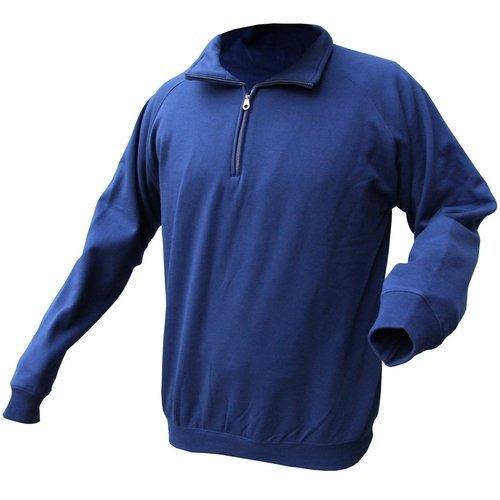 Click CLQZSSN3XL Quarter Zip Polo Fleece Navy Blue 3XL