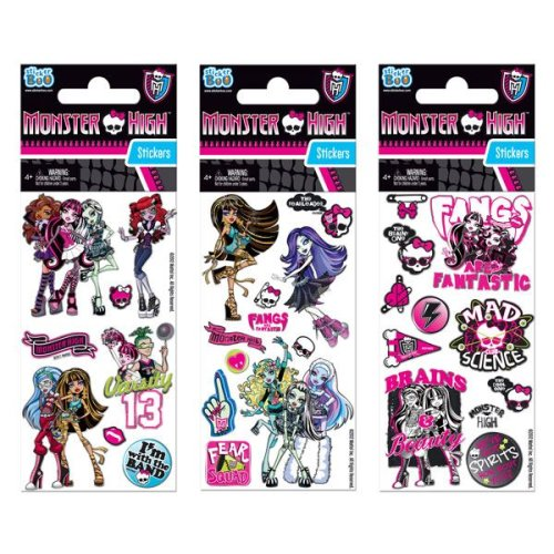 1 x Quality Sticker Sheets | MONSTER HIGH | Party Bags & Decoration