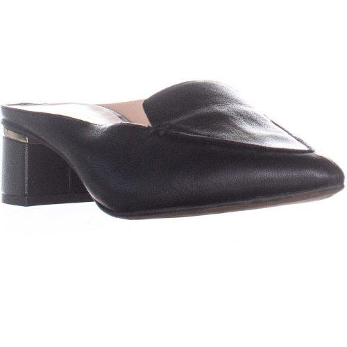 Franco Sarto Genesse Slip On Mules, Black Leather, 7.5 UK