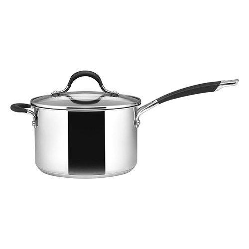 Circulon Momentum Saucepan with Helper Handle, Stainless Steel, 3.8 Litre, 20 cm