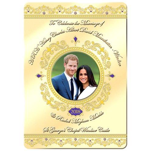 Royal Wedding Fridge Magnet May 2018 Prince Harry Meghan Markle Souvenir Gift Foil Stamped