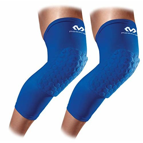 Knee Compression Sleeves McDavid Hex Knee Pads Compression Leg Sleeve for Basketball Volleyball Weightlifting and More Pair of Sleeves