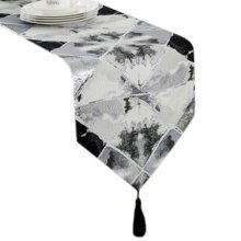12*79 Inch, Fashionable Table Runner Tea Table Cloth Luxury Bed Runner Grey