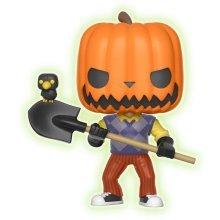 Hello Neighbor Funko POP! Games Vinyl Figure Pumpkin Head GITD + Pop Protector