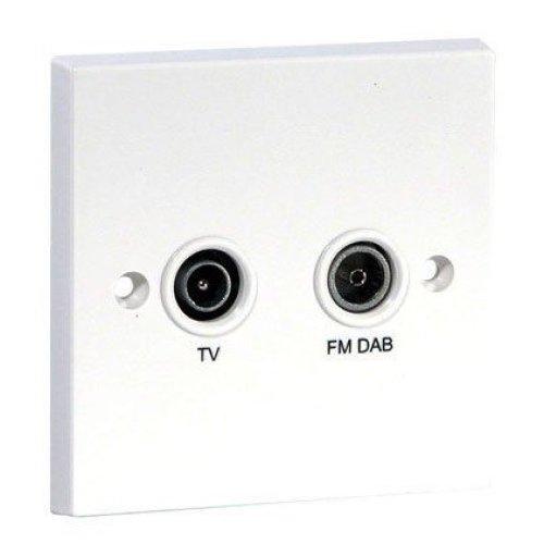 Labgear PSW122 Screened Diplex TV and FM/DAB Coaxial Socket