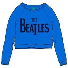 The Beatles Women's Drop T Logo Long Sleeve Sweatshirt, Blue, Size 10 -  beatles womens drop logo long sleeve sweatshirt blue size 10