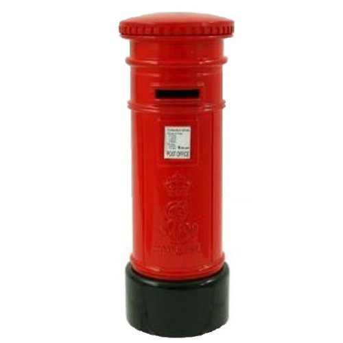Red Post Box Money Box Die Cast Metal UK London Souvenir Gift Bank Coins Mail