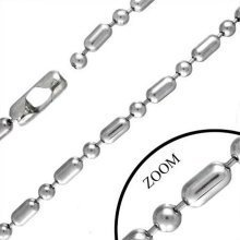 Urban Male Modern Design Stainless Steel Chain 6.5mm Wide and 24in Long