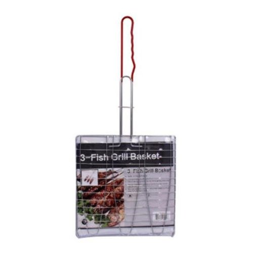 DDI 2291050 11 in. 3-Fish Grill Basket with Red Handle, - 32 Per Pack - Case of 32