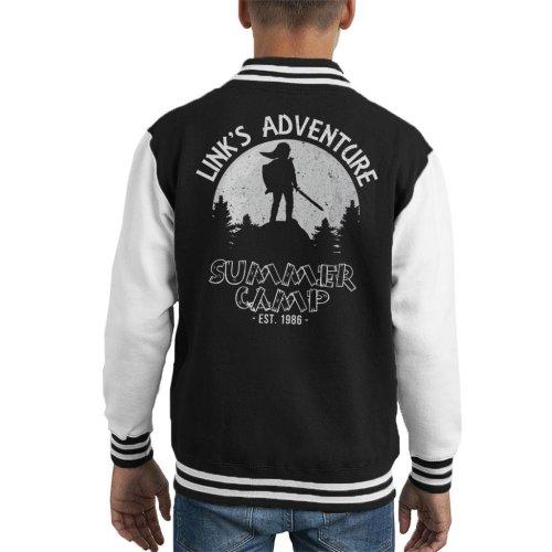 Academies Legend Of Zelda Links Summmer Camp Kid's Varsity Jacket