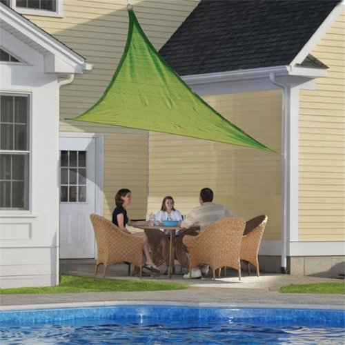 ShelterLogic 25674 12 ft. - 3,7 m Triangle Shade Sail - Lime Green 230 gsm
