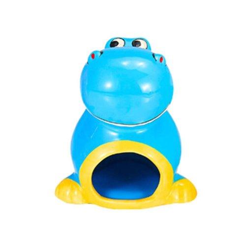 Wind-proof Ceramics Hamsters Toys Blue Dinosaur Hamster Habitat