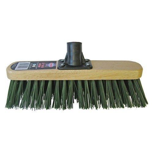 Faithfull FAIBRSTIF12R Broom Head Stiff Green 300mm (12in) Threaded Socket
