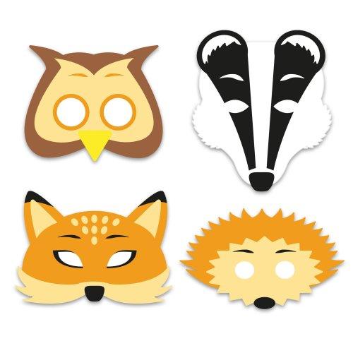 6 Foam Woodland Animal Masks