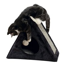 Trixie Lera Cuddly Cave For Kittens, 44 x 39 x 25 Cm, Anthracite - Cat Plush -  lera cat cave cuddly plush cover sisal scratching surface toy string