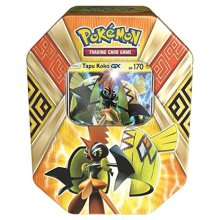 Pokemon TCG: Sun & Moon Guardians Rising Collectors Tin Containing (4 Piece), Booster Packs and Featuring a Foil Tapu Koko-GX