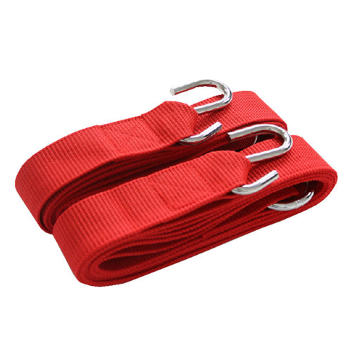 Premium Hammock Tree Straps Hanging Kit Rope with Hooks + Bag - Red