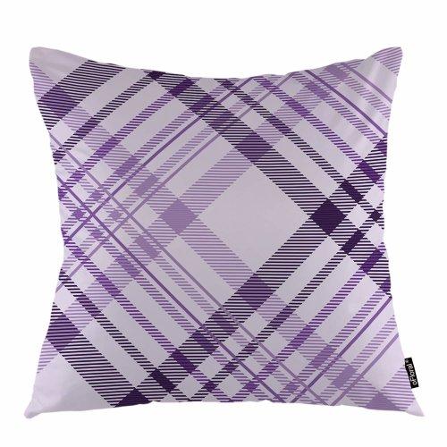 "Melyaxu Plaid Throw Pillow Cover Pantone Geometric Checker Tartan Plaid Decorative Square Pillow Case 18""X18"" Pillowcase Home Decor for Sofa Bedroom"