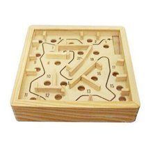 2 PCS Challenging Wood Brain Teaser Puzzle Disentanglement Puzzles, Style 20