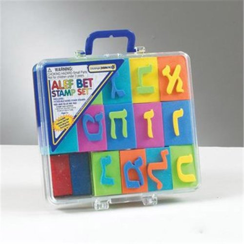 Rite Lite TY-14445 Alef-Bet EVA Stamp Set in Carrying Case - Pack Of 6