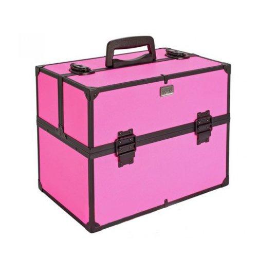 Soho 492471U Large Diamond Vanity Case With Internal Compartments Pink