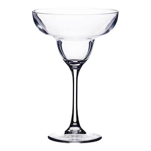 KitchenCraft Barcraft Plastic Margarita Cocktail Glass, 250 ml (9 Fl oz), Clear