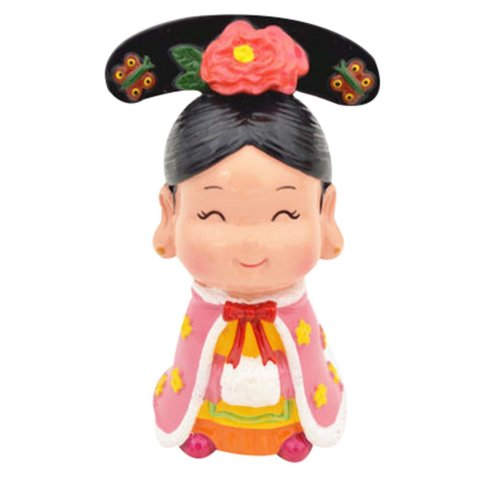 Queen Decorative Clay Figurine Ornaments Chinese Style Characteristics Folk Art
