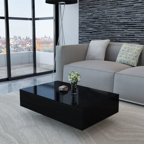 244024 vidaXL Coffee Table High Gloss Black