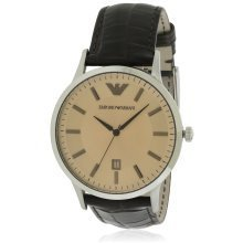 Emporio Armani Leather Classic Mens Watch AR2427