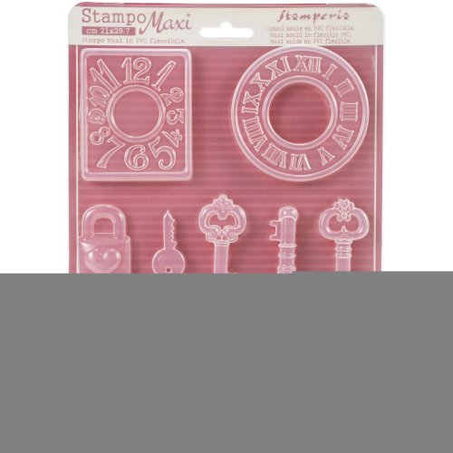"""Stamperia Soft Maxi Mould 8.5""""X11.5""""-Watches"""