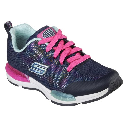 Skechers Childrens/Girls Jumptech Optic Haze Lace-Up Trainers