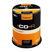 Intenso CD-R, 700MB/80 Minutes, 52x Speed, Cake Box of 100