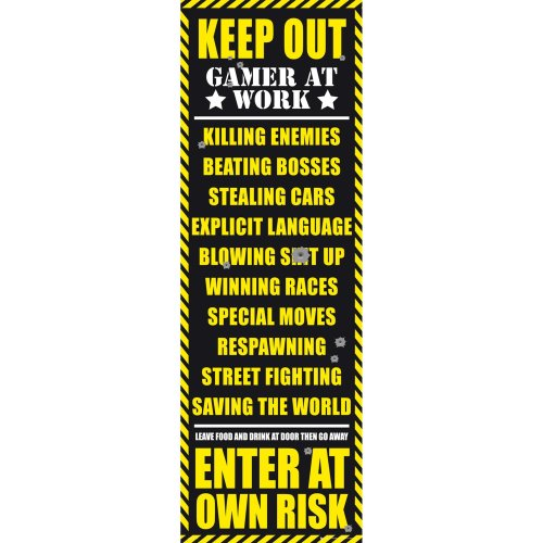 Gaming Keep out Door Poster