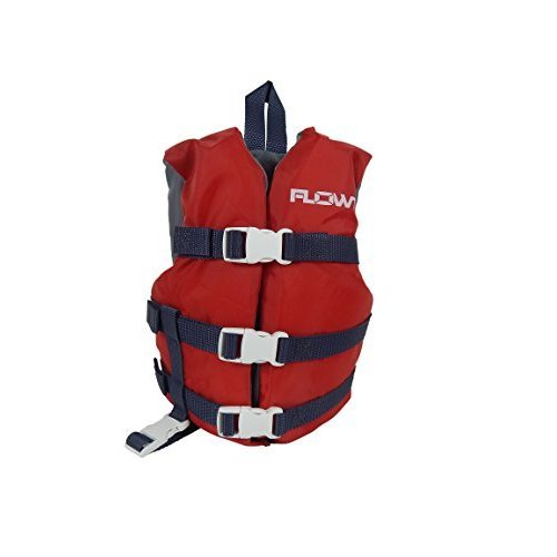 Flowt Multi Purpose 40202 2 CLD Multi Purpose Life Vest Type III PFD Red Child Vest fits 30 50 lbs