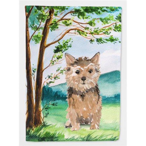 Carolines Treasures CK2006CHF Under the Tree Norwich Terrier Flag Canvas House Size