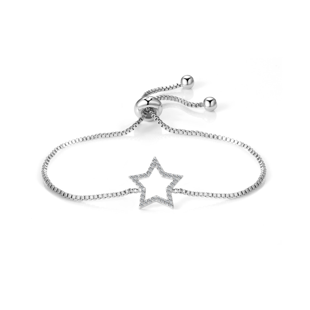 31f1f9d48 Silver Plated Star Friendship Bracelet Created with Swarovski Crystals on  OnBuy