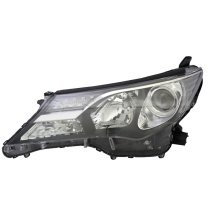 Toyota Rav-4 2013-2016 Black Headlight Headlamp Passenger Side N/s