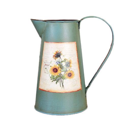 Pastoral Flower Vase/ Rustic Metal Small Tin Blucket Vases/ Best Gift  R